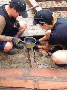 Tradie Ladies Finding Bugs In Children First Yard