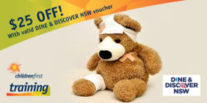 First Aid $25 off with DINE & DISCOVER voucher